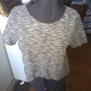 Anthro Left Coast Cropped open back top